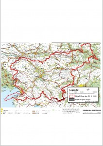 Karta-lega parka glede na mejo RS